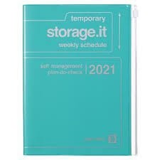 2021 Diary A5 Storage.it // Turquoise