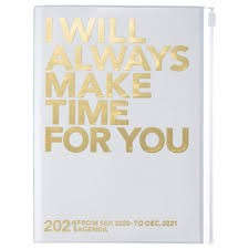 2021 Diary A5 Make time // Gold