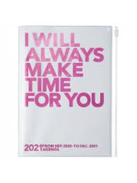 2021 Diary A5 Make time // Pink
