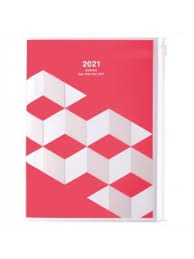 2021 Diary A5 Geometric // Pink