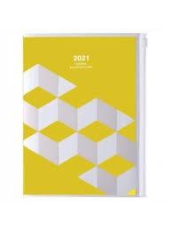 2021 Diary A5 Geometric // Yellow