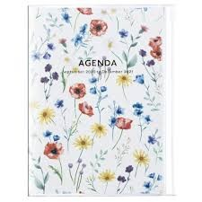 2021 Diary A5 Flower // Ivory