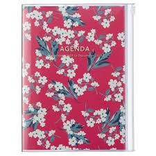 2021 Diary A5 Flower // Red