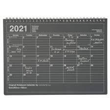 2021 Calendar Notebook M // Black