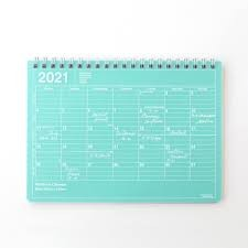 2021 Calendar Notebook S // Green