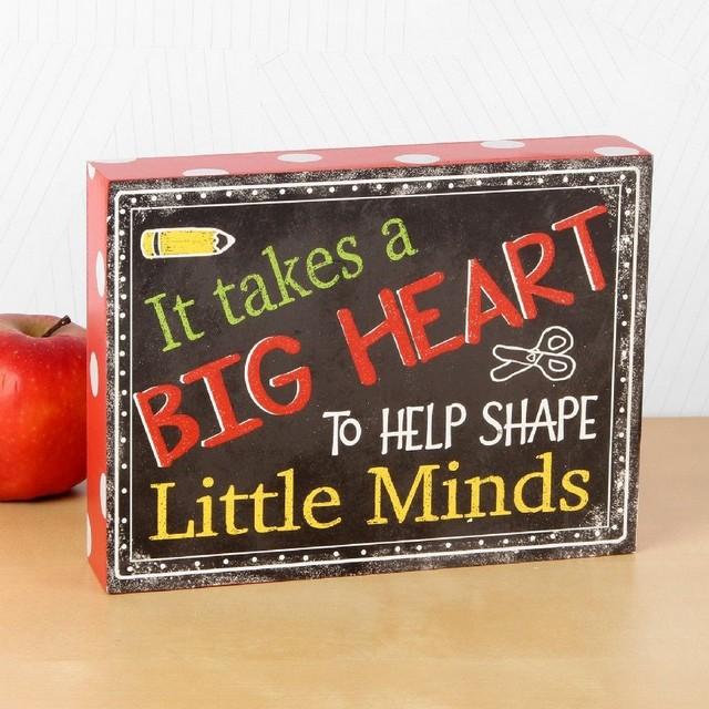 WIDDOP IT TAKES A BIG HEART TEACHER GIFT 69211 PLAQUE
