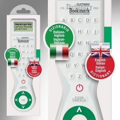 Electronic Dictionary Bookmark Bilingual- Italian- English