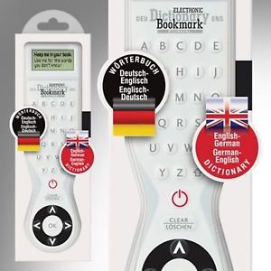 Electronic Dictionary Bookmark - German-English Bilingual