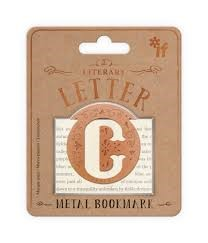 Literary Letters Metal Bookmark - Letter C