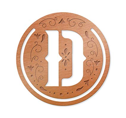 Literary Letters Metal Bookmark - Letter D