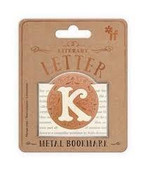 Literary Letters Metal Bookmark - Letter K