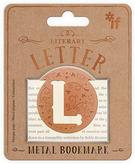 Literary Letters Metal Bookmark - Letter L