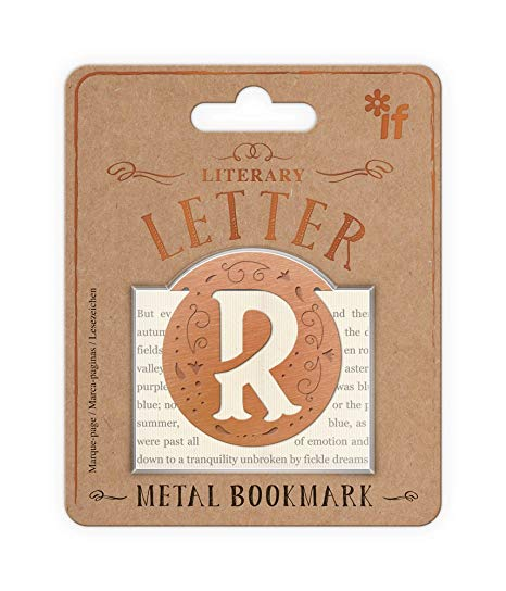 Literary Letters Metal Bookmark - Letter R