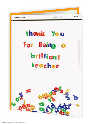 WCC047 Well Cool Thank You Being Brilliant Teacher