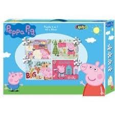 PUZZLE 4 IN 1 20-24-36-48 PCS PEPPA PIG