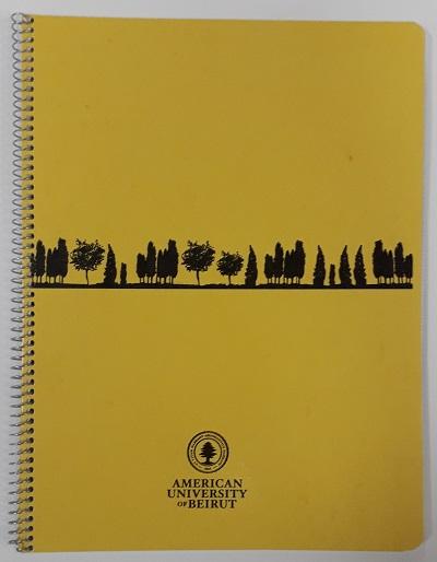 AUB spiral book 144 sheets 21x27.5 cm