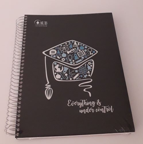 AUB COPYBOOK GRADUATE | 5 SUBJECTS | SPIRAL SQUARE | 200SH