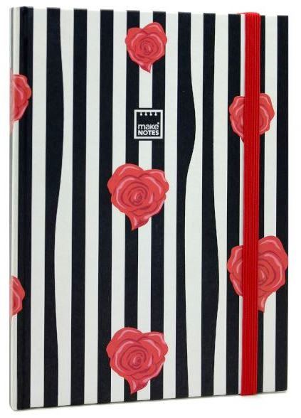 ROSES NOTEBOOK WITH ELASTIC BAND 96 SHEETS 70GRS RULED INTERIOR