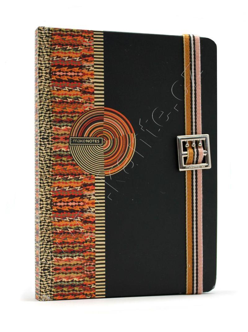 Kuba Notebook Hard Cover With Elastic Band 96 Sh 80Grs