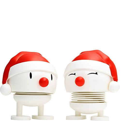 Hoptimist White. Baby Nosy Santa (2 pcs.)