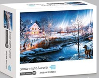 Snow Night Aurora Jigsaw Puzzle 1000 pcs