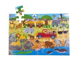 AFRICAN ADVENTURE FLOOR PUZZLE (48 PIECE)