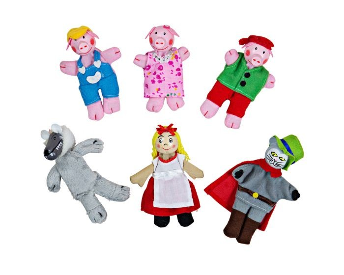 FINGER PUPPETS- RED RIDING HOOD