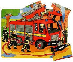 9 PIECE TRAY PUZZLE- FIRE ENGINE