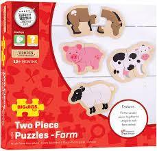 Two Piece Puzzles - Farm