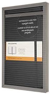 Moleskine Bundle: Classic Notebook Vertical Large Black   GO Pen