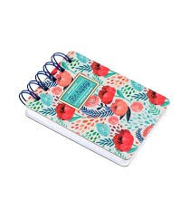 Mini Spiral Notebook  - Flowers Be Happy