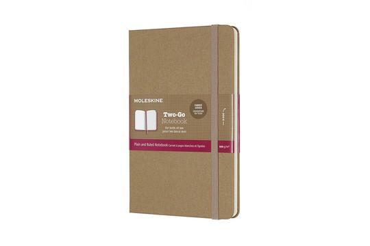 Moleskine TWO-GO Classic Notebook RU/PL-M-H-Kraft Brown