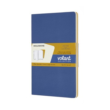 Moleskine Volant Journal PL-L-S-Blue/Amber Yellow