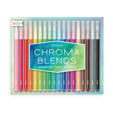 CHROMA BLENDS WATERCOLOR BRUSH MARKERS SET OF 18