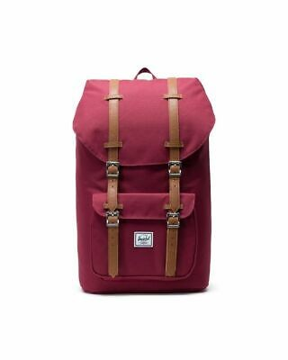 Herschel Little America Backpack Windsor Wine/Tan Synthetic Leather