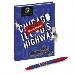 ROUTE66 DIARY WITH LOCK AND PEN 2019