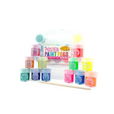 LIL' POSTER PAINT PODS NEON AND GLITTER SET OF 12 COLORS