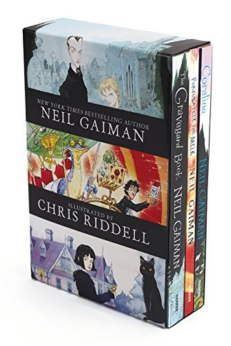 Neil Gaiman/Chris Riddell Box Set: Coraline- The Graveyard Book- Fortunately, The Milk