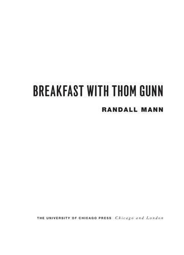 Breakfast With Thom Gunn (Phoenix Poets)