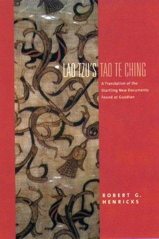 Lao Tzu's <I>Tao Te Ching<I>