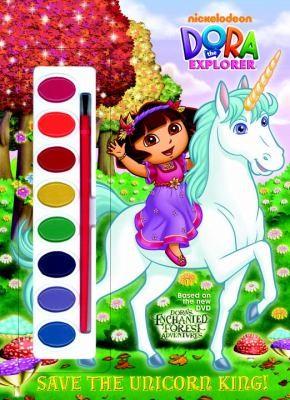 Save The Unicorn King! (Dora The Explorer) (Paint Box Book)