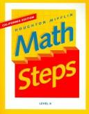 Houghton Mifflin Math Steps (Teacher Resource Copymasters)