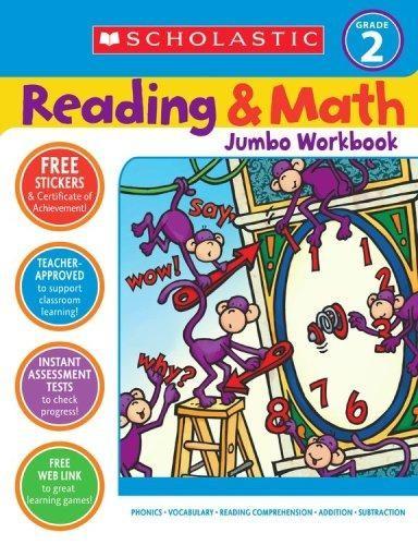 Reading and math jumbo workbook: grade 2