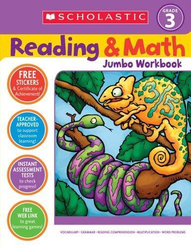 Reading and math jumbo workbook: grade 3