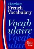 Chambers French Vocabulary