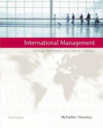International Management: Strategic Opportunities