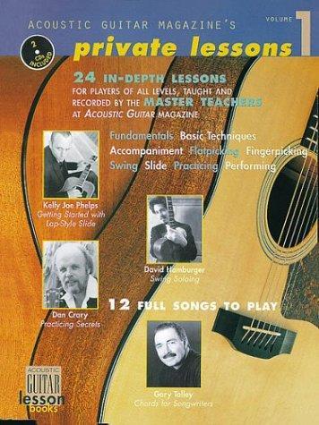 Acoustic Guitar Magazine's Private Lessons, Vol. 1 Book/2 Cds (String Letter Publishing) (Acoustic Guitar) (Guitar Instruction)