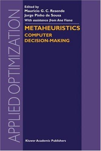 Metaheuristics: Computer Decision-Making (Applied Optimization)