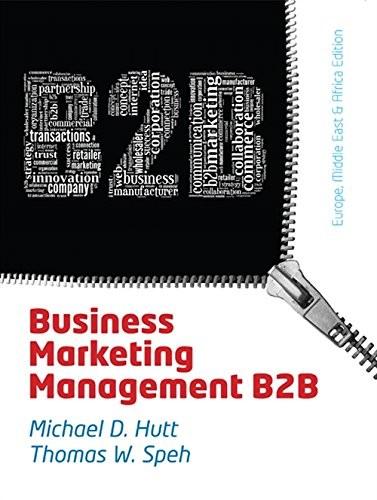 Business Marketing Management: B2b - Emea Ed