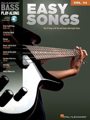 Easy Songs: Bass Play-Along Volume 34